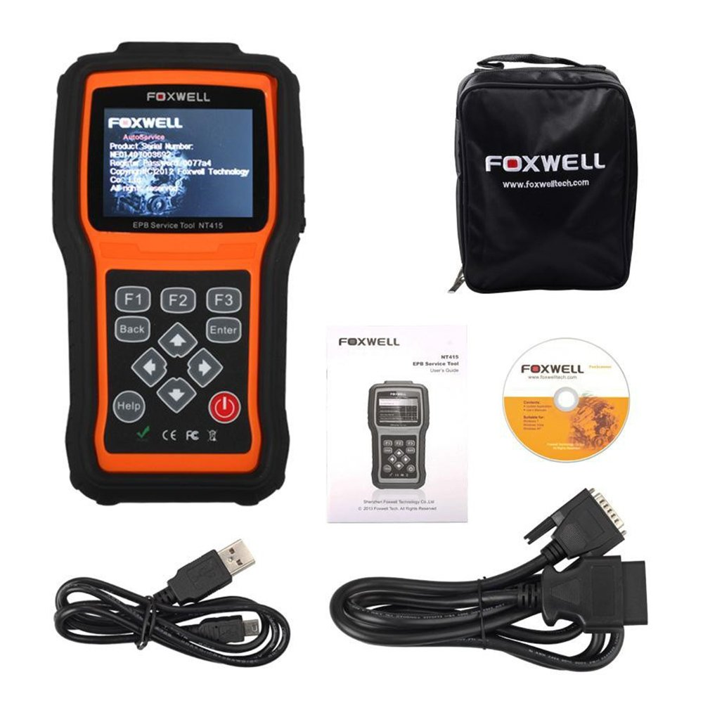 Amazon.com: Foxwell NT415 OBD2 Diagnostic Code Scanner EPB Electronic Park  Brake Service Tool: Automotive