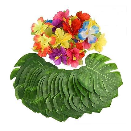 Buy 32pcs Green Simulation Flowers Artificial Plants Fake Turtle