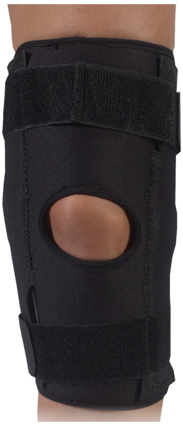 Bilt-Rite Mastex Health X2 Neoprene Hinged Knee Support, Black, Large