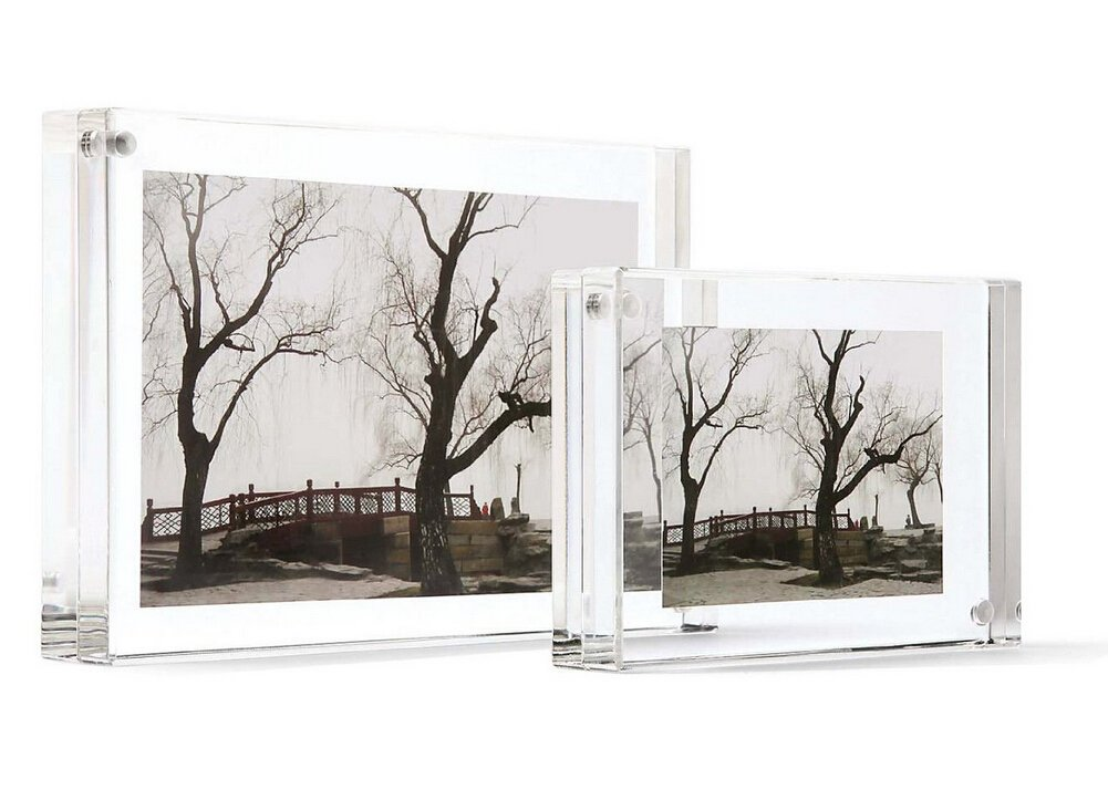 10 Pack Clear 4''x6''magnetic Block Picture Frame Acrylic Photo Frames