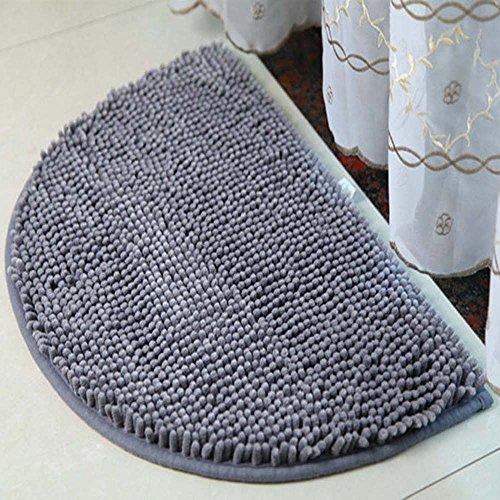 (Half Moon Chenille Doormat, DreamInn Bathroom Bedroom Non-Slip Door Mat, 24