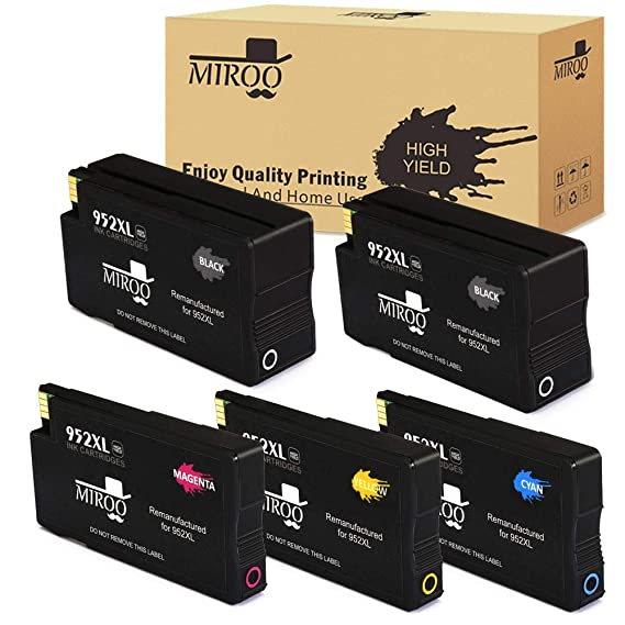 HP 7740 Ink HP Pro 8730 8710 Cartridge 8740 MIROO 952 on 952xl High YieldUse OfficeJet 8702 8725 8216 Replacement Remanufactured 8720 8218 8715 for ZikuXP