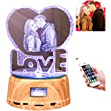 Personalized Photo Night Light Bluetooth Led Lamp Color Changing Music Player Christmas Gift for Women