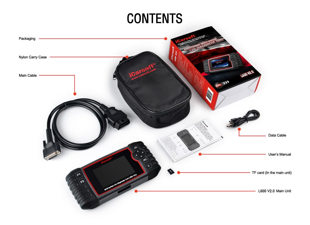 iCarsoft Auto Diagnostic Scanner L600 V2.0 for Landrover and Jaguar with ABS Scan,Oil Reset EPB etc by iCarsoft (Image #8)