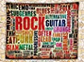 Music Decor Fleece Throw Blanket Retro Rock and Roll Symbol Lettering in Grunge Distressed Colors Back Then Sound Music Theme Throw
