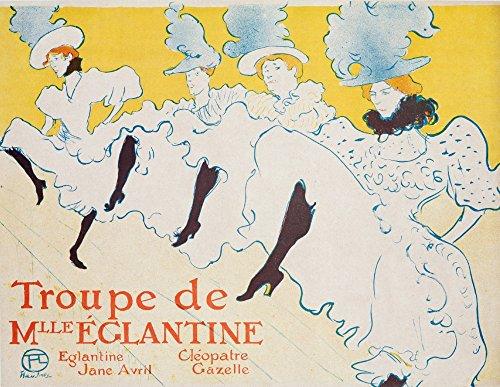 Troupe de Mlle Eglantine Vintage Poster (artist: Toulouse Lautrec, Henri De) France c. 1896 (12x18 Art Print, Wall Decor Travel Poster) ()