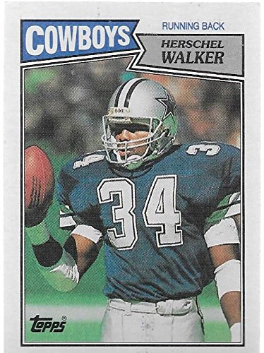 1987 Topps # 264 Herschel Walker Dallas Cowboys Football ROOKIE Card- Near Mint to Mint Condition - In Protective Screwdown Display Case! ...