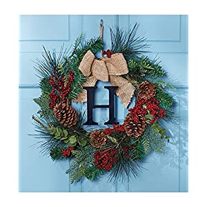 "Holiday Monogram ""H"" Wreath 19"