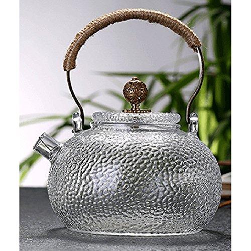 Glass Teapot Heat Resistant Teapot With Copper Handle 700 ml