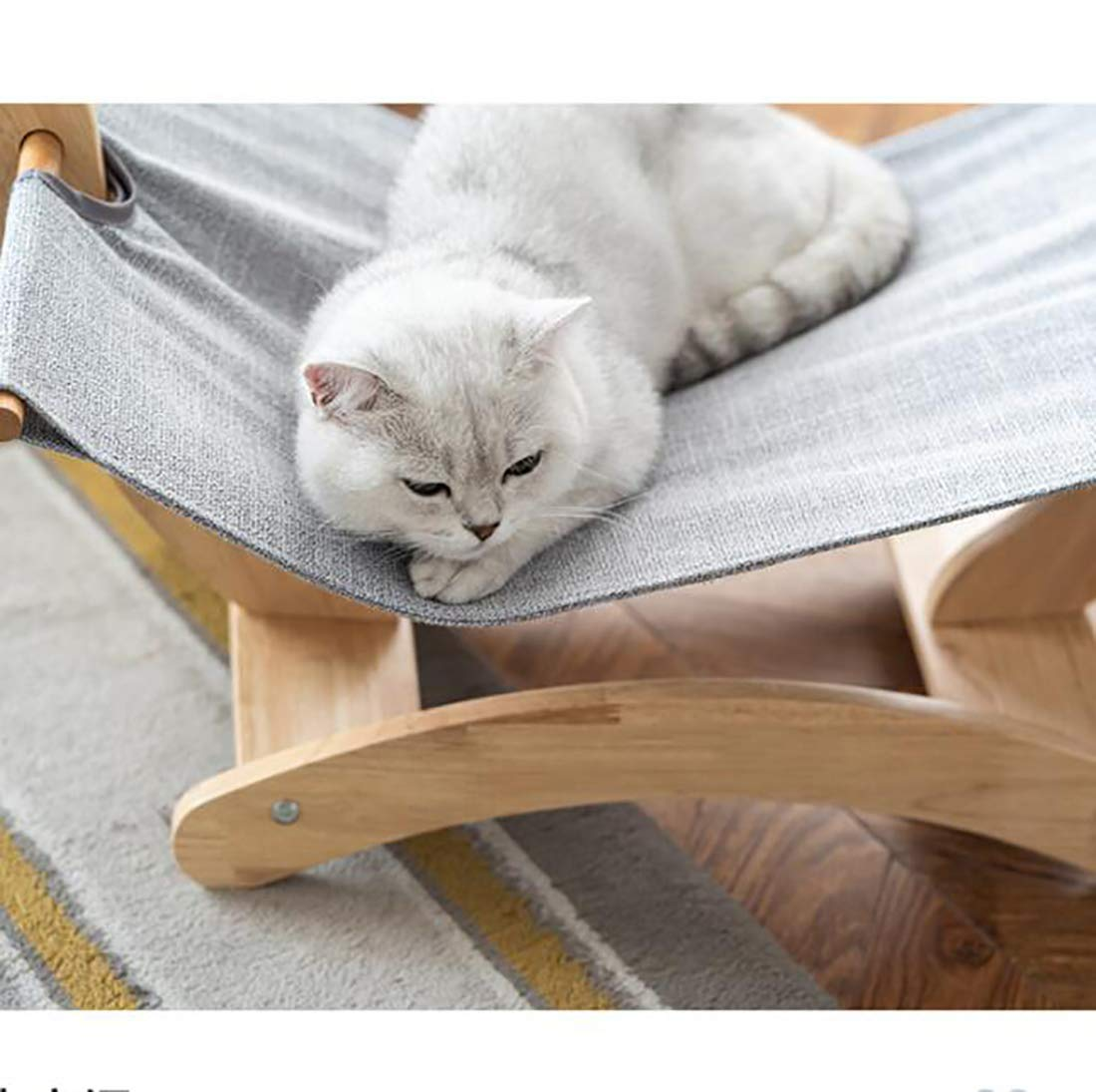 KGAO Cat Litter Wooden Shaker Solid Wood Hammock Shaker Supplies Four Seasons Available Comfortable Baby Cat Puppy Climbing Pet Mat,Brown by KGAO