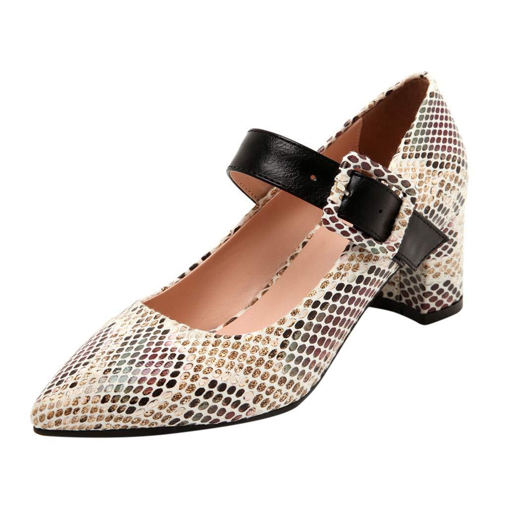 SSUPLYMY Damen Elegant Party Schuhe Mode Schlange Lederschuhe Festival Hochzeit Schuhe Vintage High Heels Sandalen Mary Jane Schuhe Einzelne Schuhe Freizeitschuhe