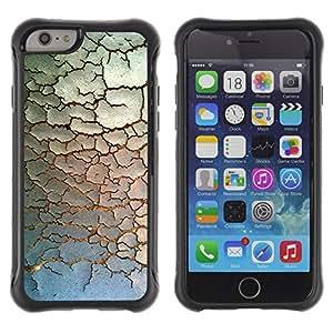 WAWU Funda Carcasa Bumper con Absorci??e Impactos y Anti-Ara??s Espalda Slim Rugged Armor -- chipped paint rustic pattern minimalist -- Apple Iphone 6
