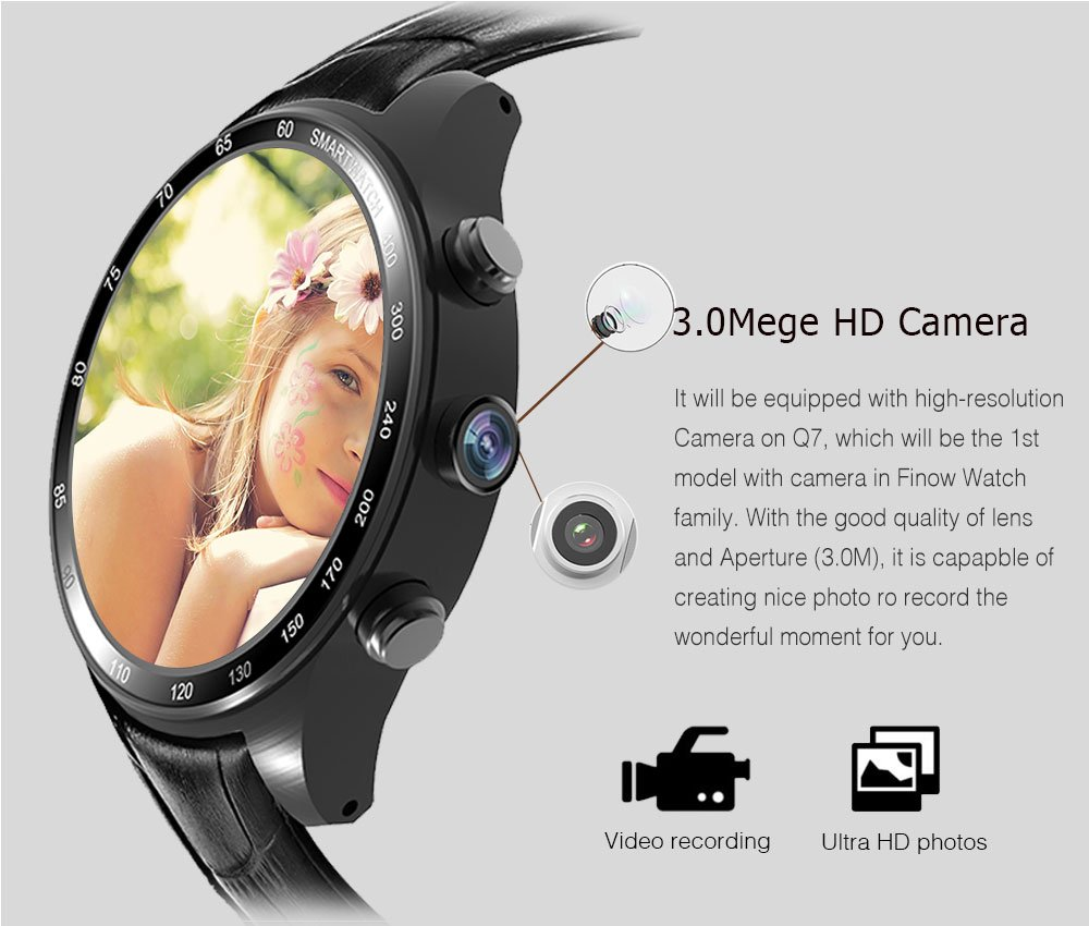 Amazon com: PINCHU Smart Watch Q7 Plus with 3 0 MP 512MBRAM+
