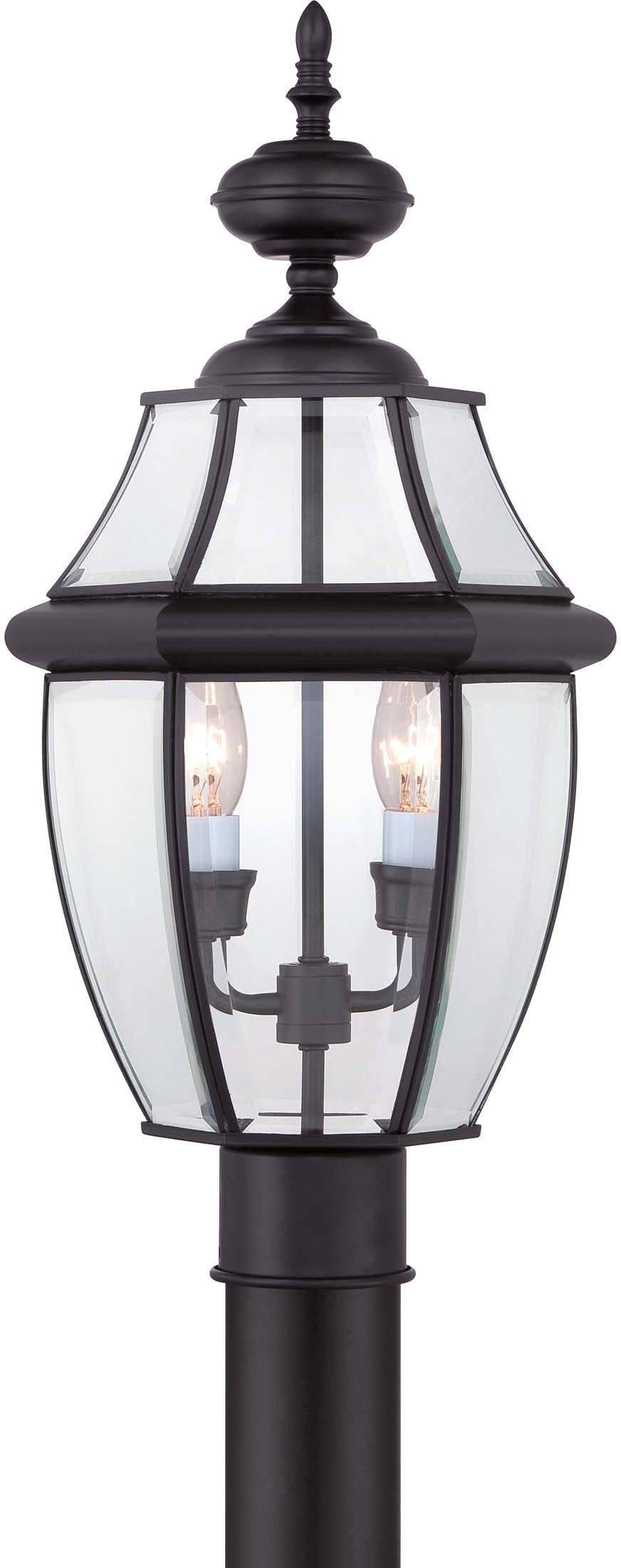 Quoizel NY9042K Newbury 2-Light Outdoor Post Lantern, Mystic Black by Quoizel