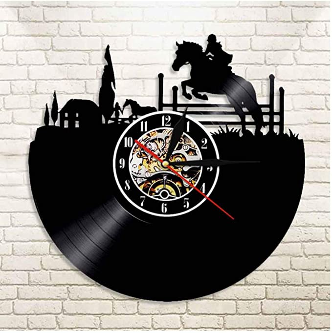 Details about  /LED Clock Horse Vinyl Record Wall Clock Led Light Wall Clock 233