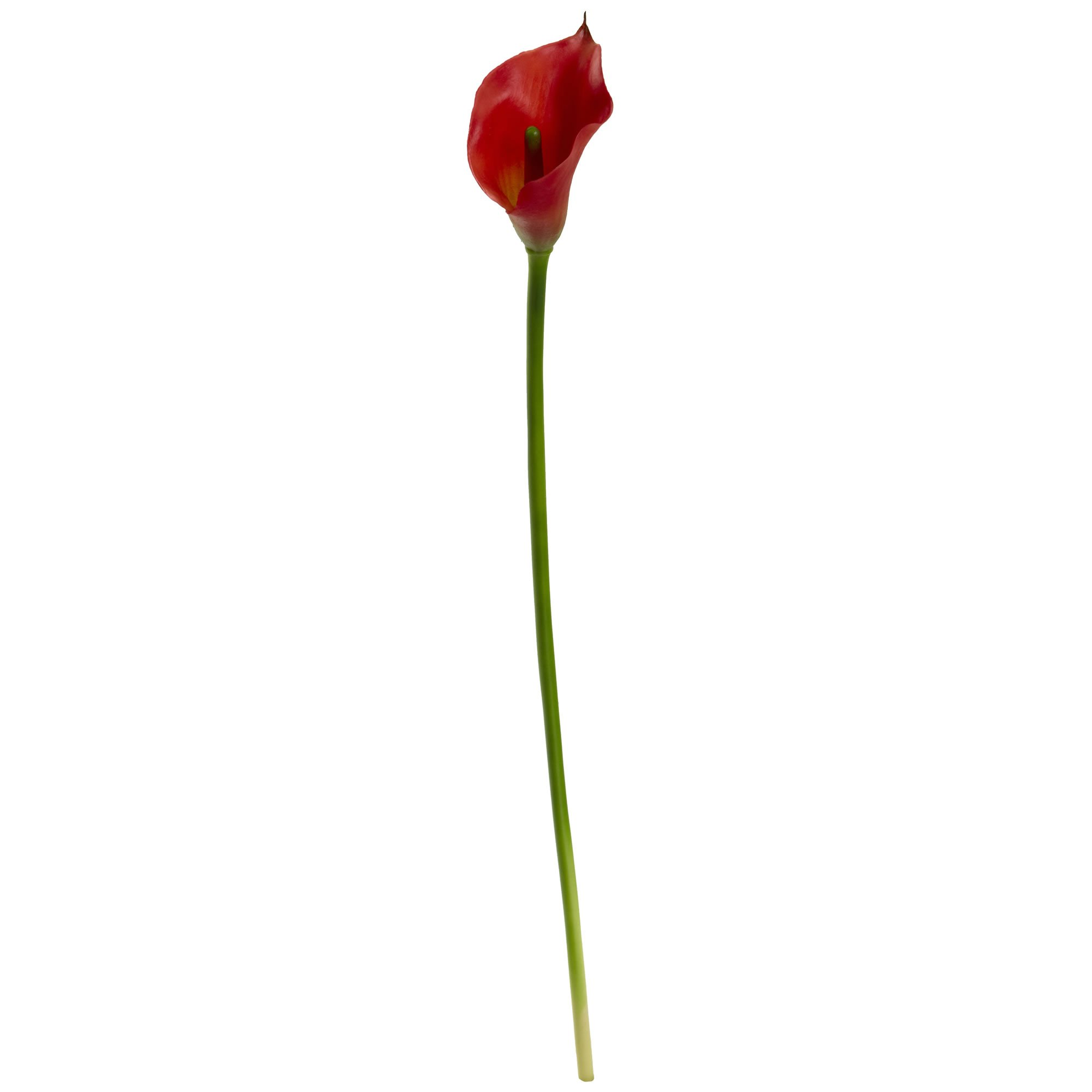 Nearly Natural 2113-S12-RD 19.5'' Calla Lily Flower Artificial Plant Red by Nearly Natural