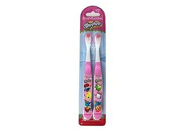 Cepillo de dientes para niños Brush Buddies Shopkins, 2 unidades: Amazon.es: Salud y cuidado personal