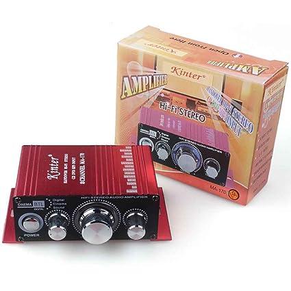 InisIE MA170 2 Canales estéreo de Alta fidelidad del Amplificador Booster Motocicleta del Coche de 12V CC Mini Altavoz Digital de DVD MP3: Amazon.es: ...