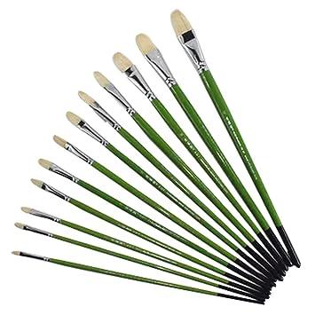 Art Sets Blue Hair Fan Pen Rod Oil Painting Pen Watercolor Painting Pen Set Bristles Art Set