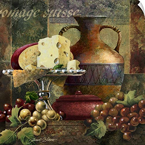 CANVAS ON DEMAND Cheese and Grapes II Wall Peel Art Print, 10