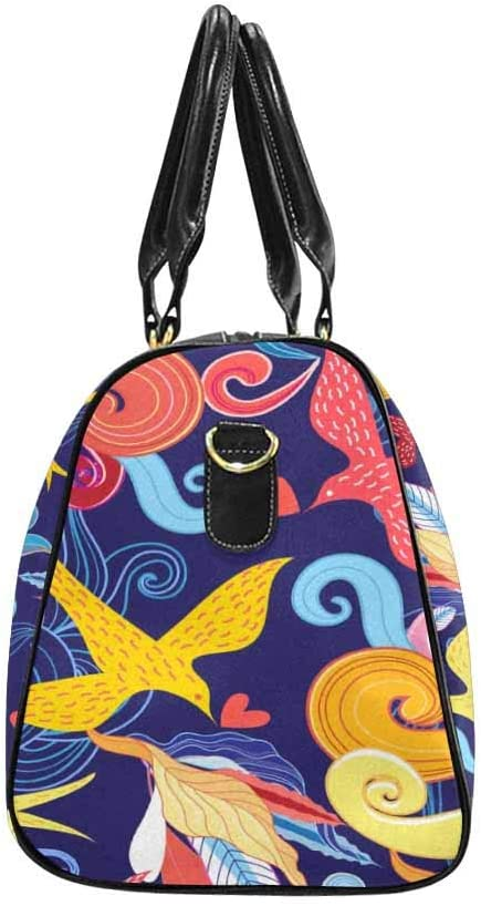 Flight Bag Gym Bag Graphic Flal with Birds InterestPrint Large Duffel Bag