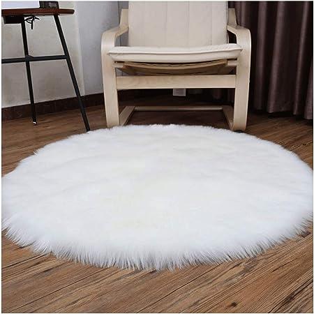 Amazon De Carpet Weisser Runder Teppich Wohnzimmer Schlafzimmer Pluschdecke Sofakissen Runde