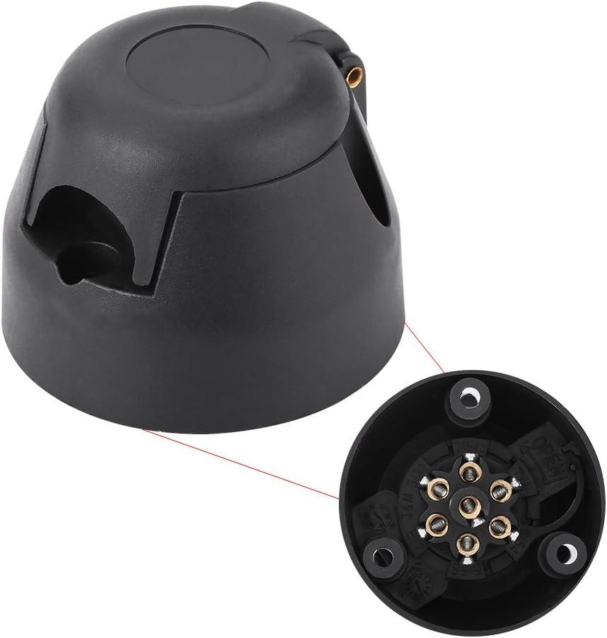 Keenso 7-poliger Anschlusskabel Anh/ängerstecker 12V Anh/ängerstecker Stecker Anschlussadapter f/ür Caravan Anh/ängerkupplung Autoanh/änger
