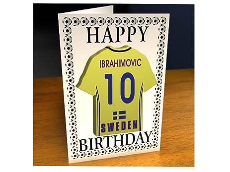 Amazon Sweden International Football Personalised Greetings