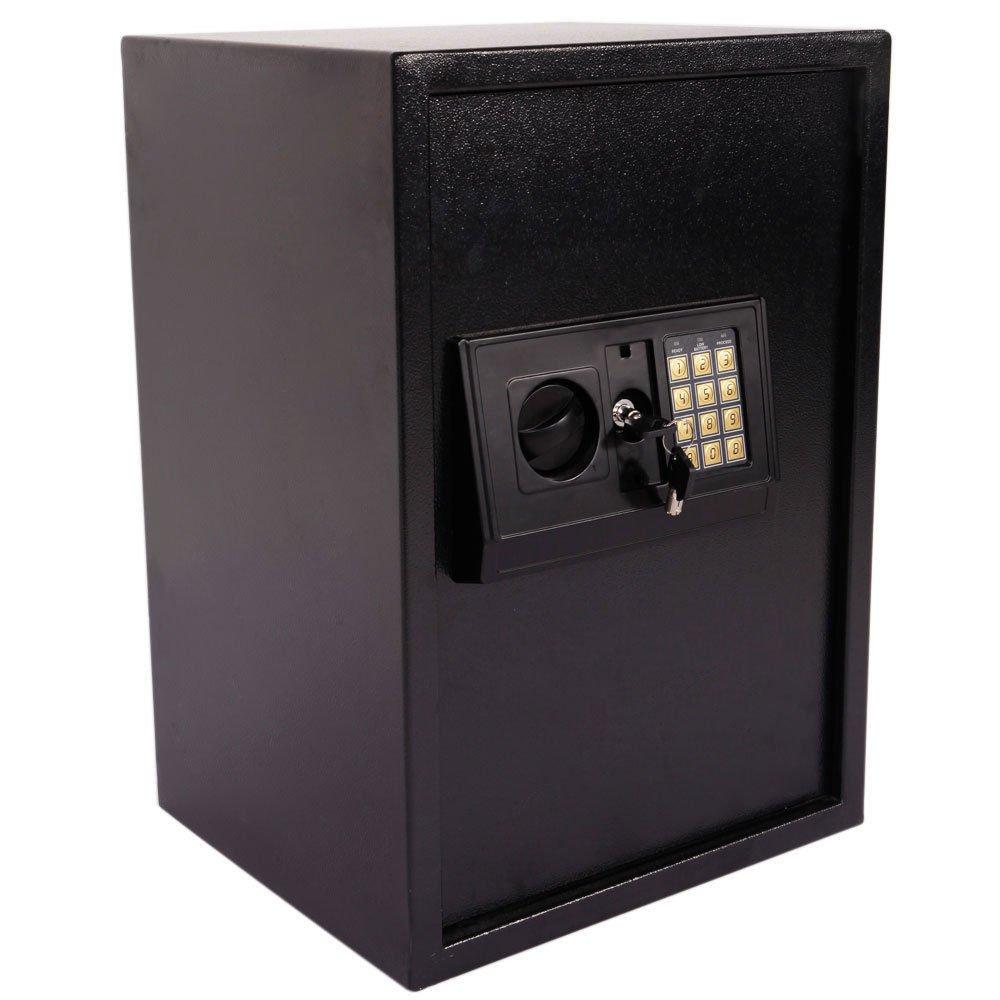 Windaze Electronic Digital Safe Large Security Box Keypad Lock for Gun Cash Jewelry Valuable Storage, Black Panel