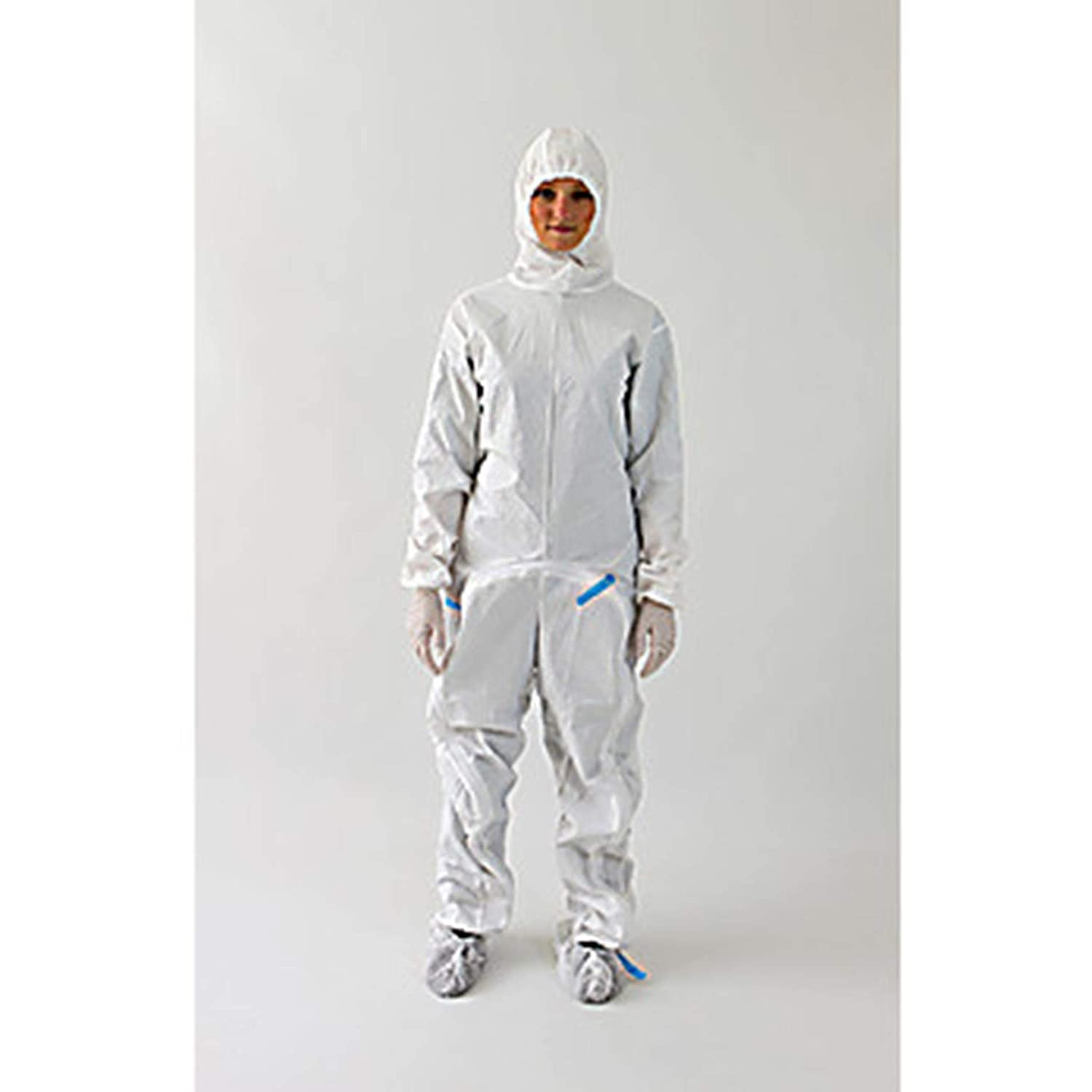 Image of Ansell S-BDSH-XXXL BioClean Drop-Down Garment with Hood, Anti-Static, White, Sterile, 3XL (Pack of 20)