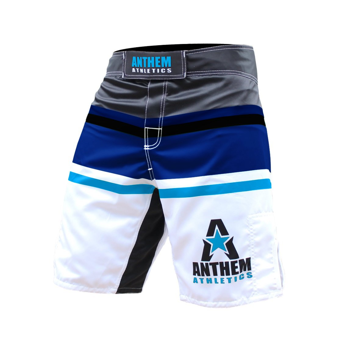 Anthem Athletics Thai Boxing Shorts Black//Navy//Blue Size S