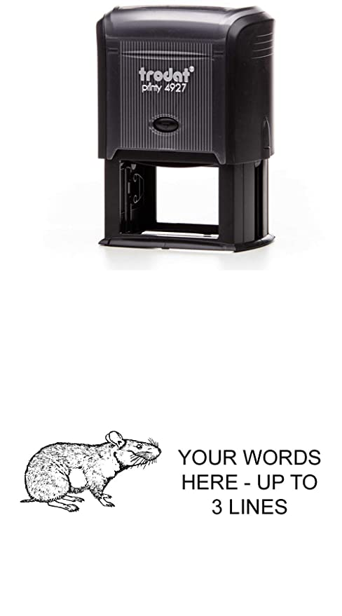 Amazon Com Hamster Rubber Stamp Large Self Inking 1 5
