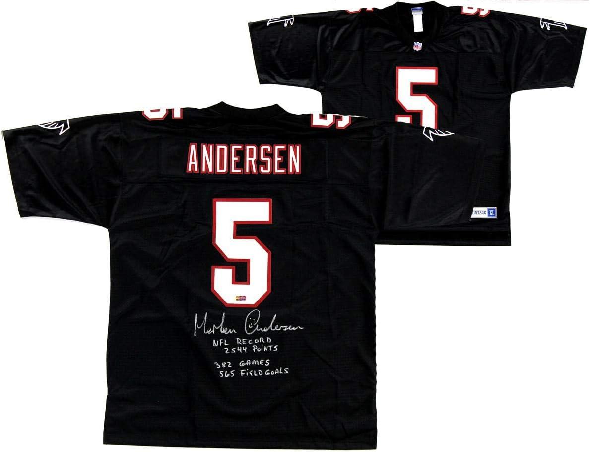Morten Andersen Signed Atlanta Falcons NFL Pro Line Authentic ...
