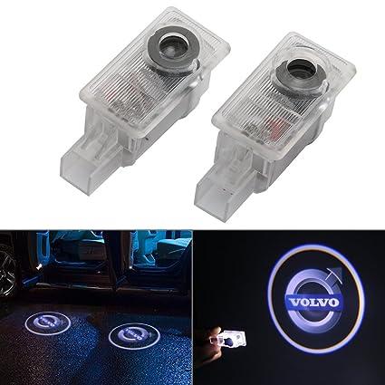 RCJ- Luz LED para puerta de coche, proyector láser de bienvenida de cortesía, luz de logotipo para