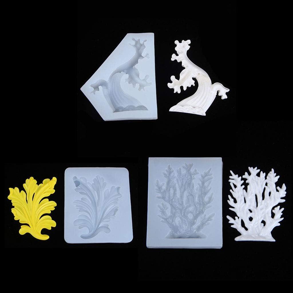 Vague De Mer Coral Seaweed Ocean Theme Pendentif Moule En Silicone HR-COME Fabrication De Bijoux En R/ésine