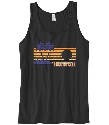 07862cb851b71e Cybertela Men s Hawaii Hawaiian Hi Sunset Beach Palm Tree Tank Top (Black