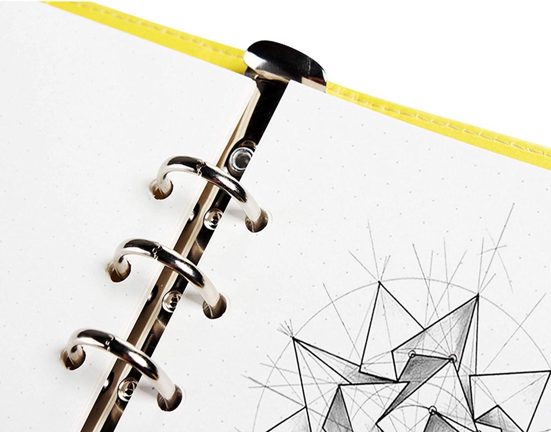 3 Pacchi x 50 Fogli a Righe Pagine Bianche Confezioni di Ricarica di Carta-WENTS A5 6-Hole Agenda ad Anelli Refill Paper per Diari Note Raccoglitori