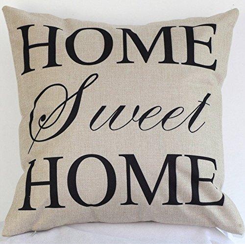 Kentop Canap/é Coussin Housse de coussin Coussin d/écoratif cas pas Coussin int/érieur Sweet Home