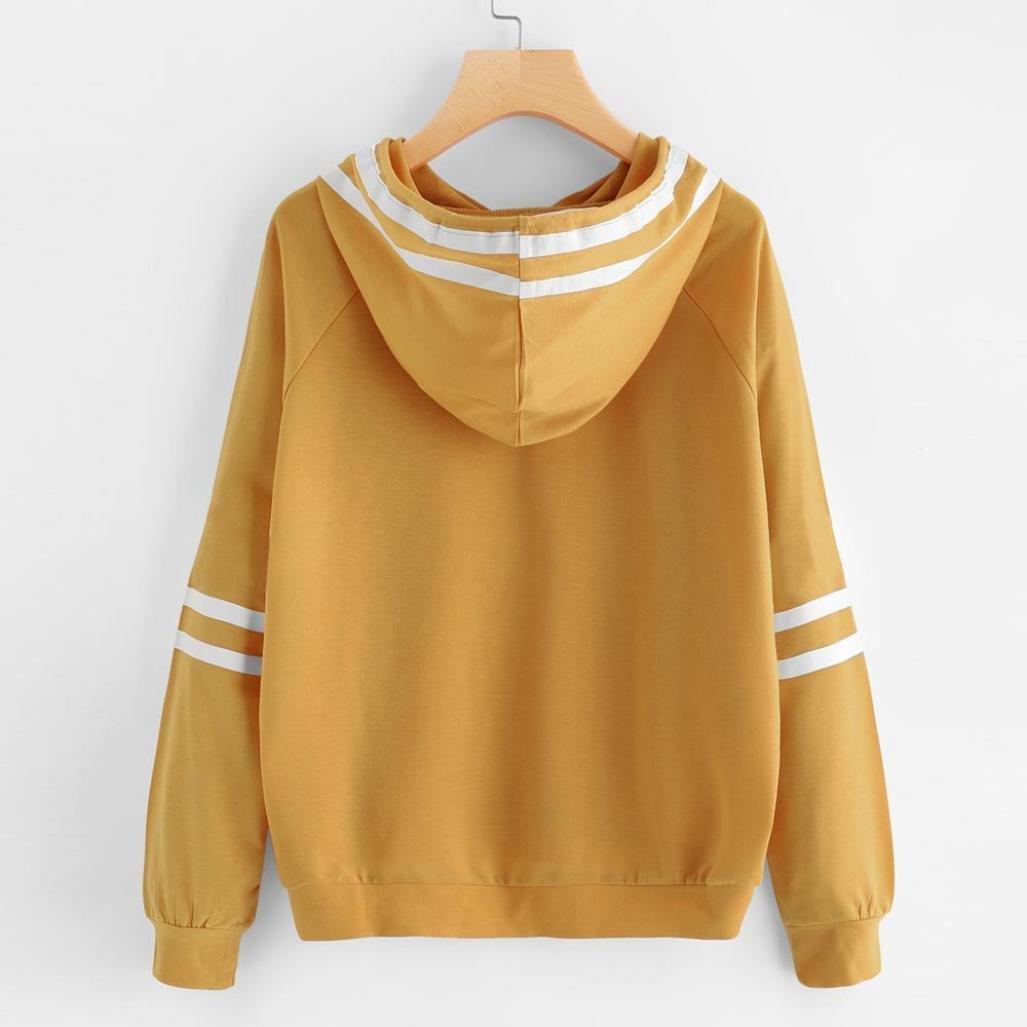 Sudaderas con capucha mujer, Xinan Sudadera con capucha de manga larga Amarillo Sudadera Jumper Pullover: Amazon.es: Ropa y accesorios