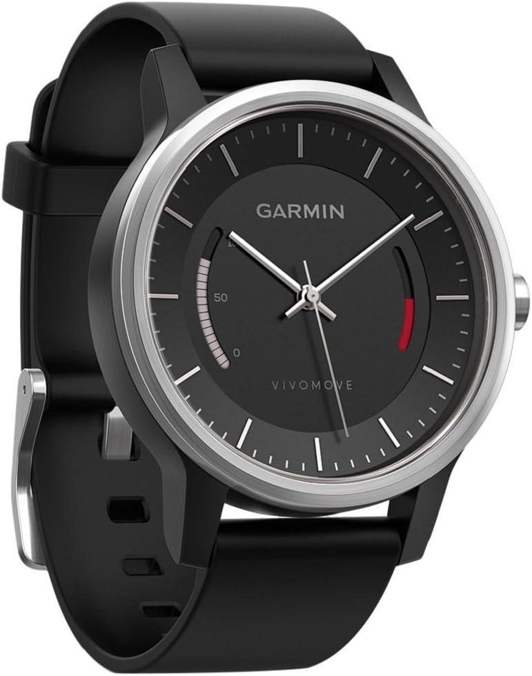 Garmin vívomove Sport - Rastreador de fitness con diseño clásico (1 año de duración de la batería, indicador del estado de inactividad, objetivos diarios)
