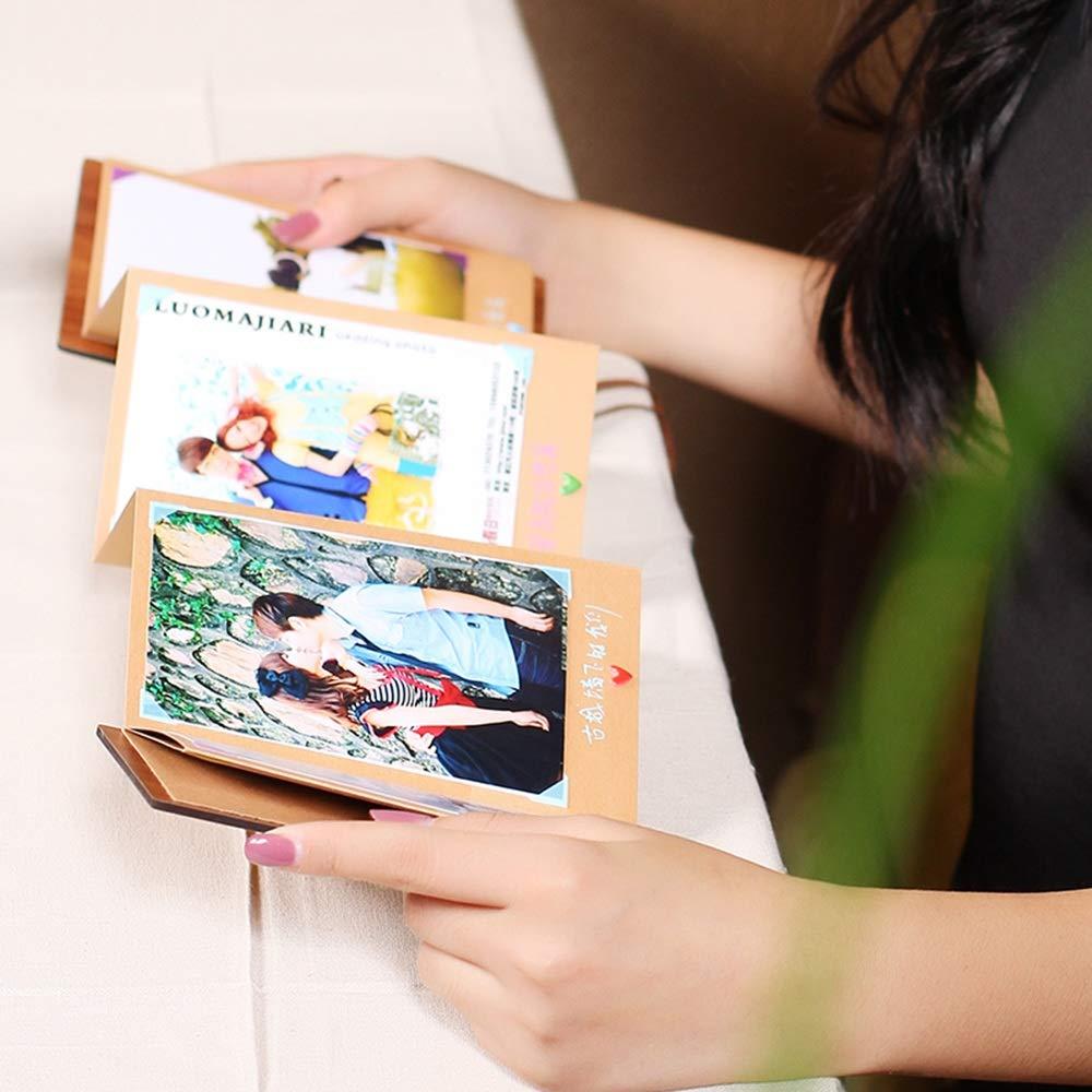 ZZHF xiangche Fotoalbum, kreatives Akkordeon-Handbuch-Album faltbares Kraftpapier Kraftpapier Kraftpapier klebte einfache praktische Wachstum-Andenken-Broschüren Album (Farbe   A) 4fdc09