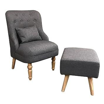 Hifeel Gris Fauteuil, Tissu Confortable avec Accents de fauteuils ...