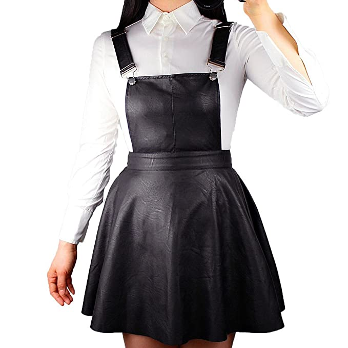 hoard as a rare commodity provide large selection of price reduced Amazon.com: QIN FE Women Skirt Faux Leather Black Short Mini ...