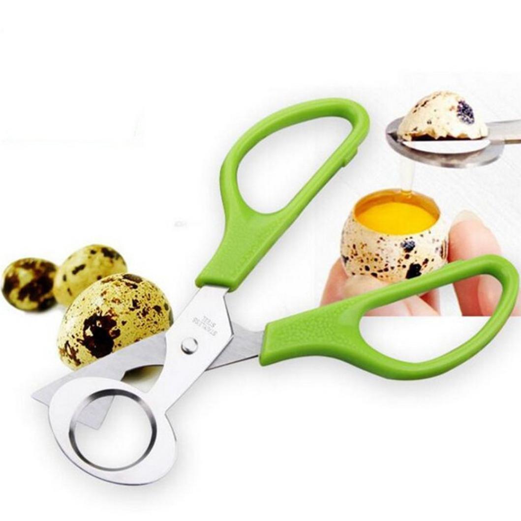 Quail Egg Shell Cutter, Kemilove Pigeon Quail Egg Scissor Bird Cutter Opener Kitchen Tool Clipper (1PCS, Green)