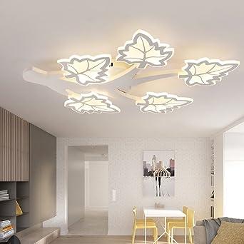 LED Deckenleuchten Creative Acryl Deckenleuchte 145W Wohnzimmer  Deckenhalterung Lampen Esszimmer Decke Lampe Schlafzimmer Ahornblatt  Gestalten Lights