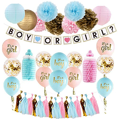 Lavagh Gender Reveal Party Supplies - Gender Reveal - Gender Reveal Decorations - Gender Reveal Party - Boy or Girl ()
