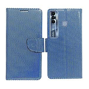 AD Enterprises Net Blue Flip Cover for Tecno Spark 7 Pro