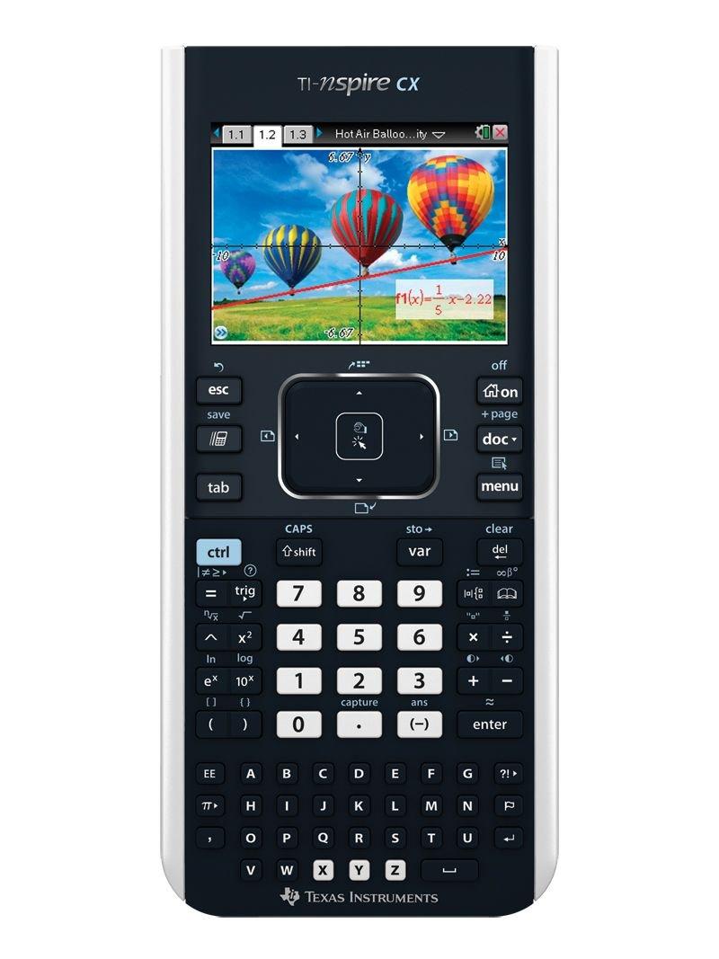 Texas Instruments TI Nspire CX–Calculadora gráfica con funda protectora de Guerrilla Galaxy