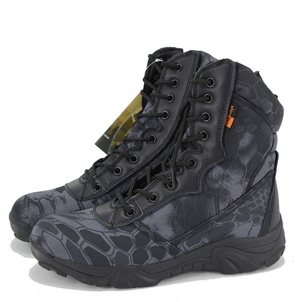 AHELMET Man Camouflage Stiefel High-Top-Kampfstiefel Oxford Schuhe Wanderschuhe Wasserdichtes Radfahren, Laufen Arbeit Wandern Anti-Slip