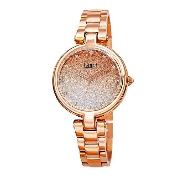 031c1452cc4b BurgiBUR226 - Reloj de Pulsera para Mujer con Cadena de Acero ...